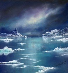 Antarctica Sky II by Philip Gray -  sized 12x12 inches. Available from Whitewall Galleries